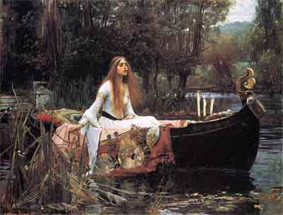 John William Waterhouse The Lady of Shalott Schilderij uit 1888