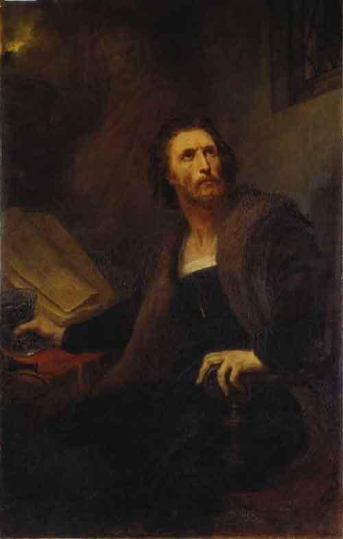 Ary Scheffer Faust met de Gifbeker Schilderij uit 1858