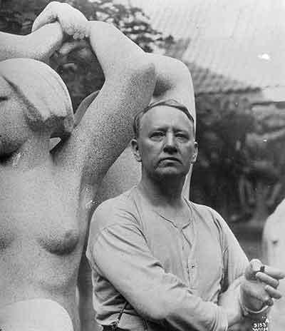 Gustav Vigeland - Foto van Anders Beer Wilse (1929)