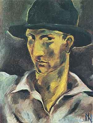 Ismael Nery Zelfportret 1928 - Braziliaanse Schilder