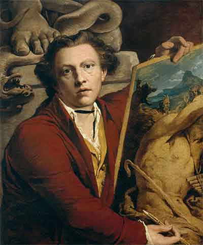 James Barry Zellfportret uit 1803